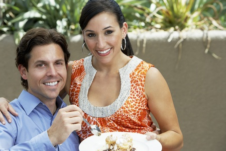 Couple Sharing a Meal Stock Photo - 12736957