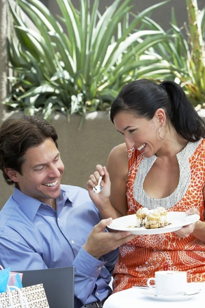 35 to 40 year olds: Couple Sharing a Meal