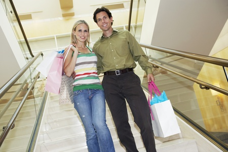Couple on a Shopping Trip Stock Photo - 12736970