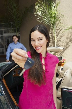 Woman Holding Car Keys Stock Photo - 12736981