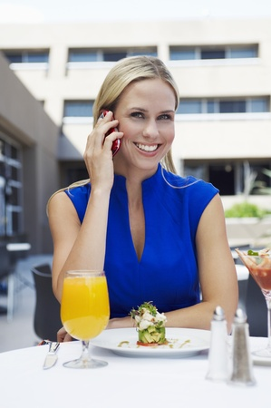 Woman Talking on a Cell Phone Stock Photo - 12736999