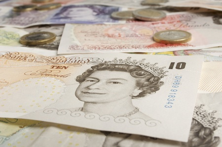 British paper currency Stock Photo - 12737109