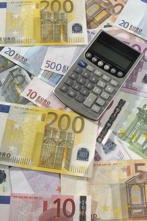 Pieniądze i Kalkulator Zdjęcie Seryjne