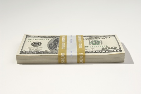 Stack of US Currency Stock Photo - 12737119
