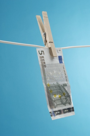 Money Hanging Out to Dry Stock Photo - 12737134