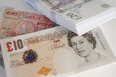 British paper currency Stock Photo - 12737141