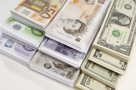 American British and Euro paper currency Stock Photo - 12737144