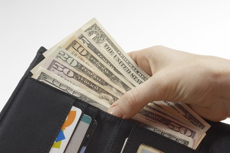 Wallet Full of Money Stock Photo - 12737163