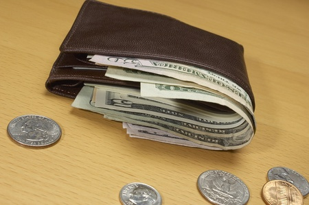 personal finance: Wallet Full of Money