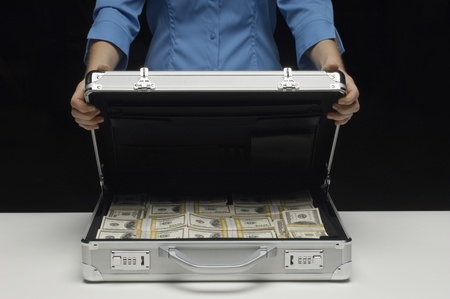 cropped out: Briefcase Full of Money