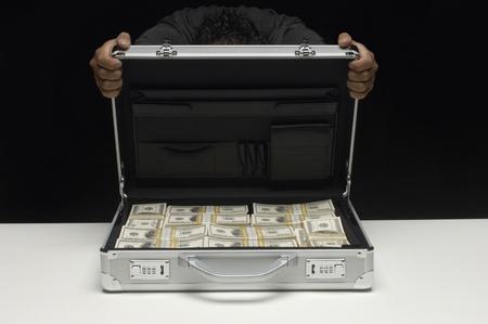 american banker: Briefcase Full of Money