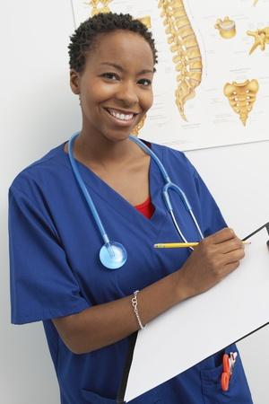 hair blacks: Female nurse working in hospitalportrait LANG_EVOIMAGES