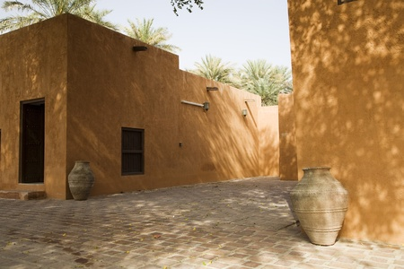 Al Ain UAE Partial view of courtyard at Al Ain Palace Museum Stock Photo - 12737498
