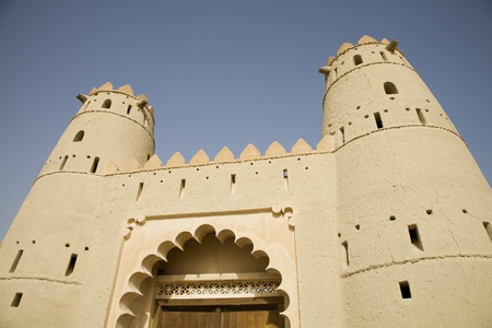 Al Ain UAE Front entrance of Al Jahli Fort in Al Ain Stock Photo - 12737500