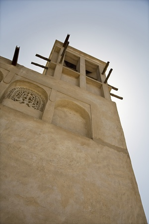 windtower: UAE Dubai traditional windtower in the Bastakia Quarter of Bur Dubai