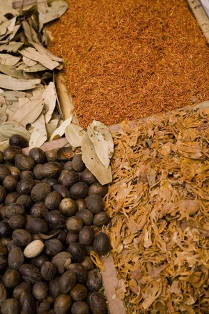 UAE Dubai many different spices for sale at the spice souq in Deira Stock Photo - 12737516