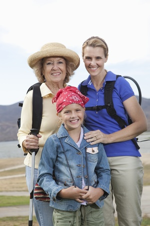 Mother daughter and grand-daughter on activity holiday portrait Stock Photo - 12737594