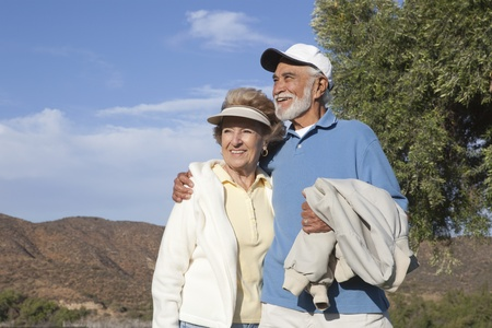Senior couple in the great outdoors Stock Photo - 12737600