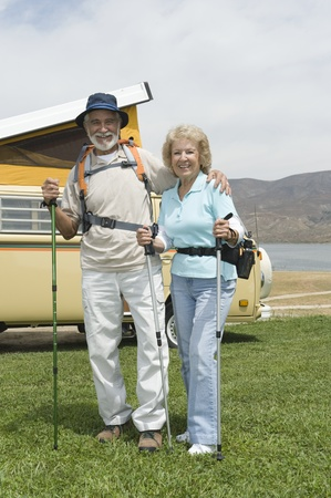 Senior couple and campervan Stock Photo - 12735574