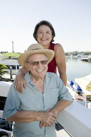 the ageing process: Senior couple on vacations LANG_EVOIMAGES