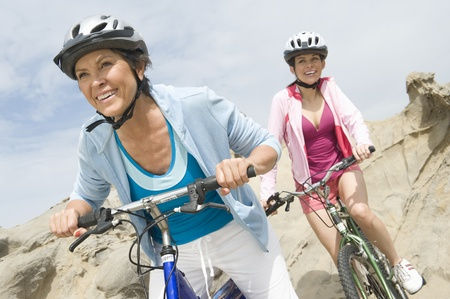 mature women only: Mature and mid adult women compete on a cycle ride