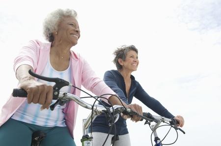 only seniors: Senior women on cycle ride