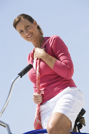Woman exercising on beach Stock Photo - 12735416