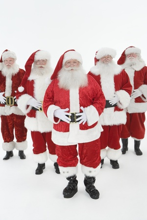 Group of men dressed as Santa Claus Stock Photo - 12735133