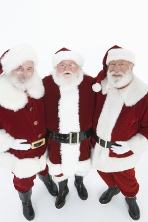 Group of men dressed as Santa Claus portrait Stock Photo - 12735142