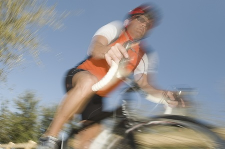 Male cyclist blurred motion Stock Photo - 12735288