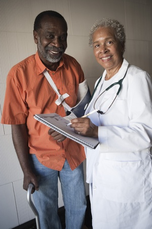 Doctor with patient Stock Photo - 12735318