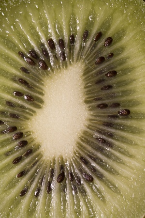 Close-Up View Of Sliced Kiwi Fruit Stock Photo - 12737857