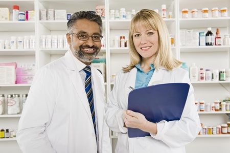 Two pharmacists portrait Stock Photo - 12737986