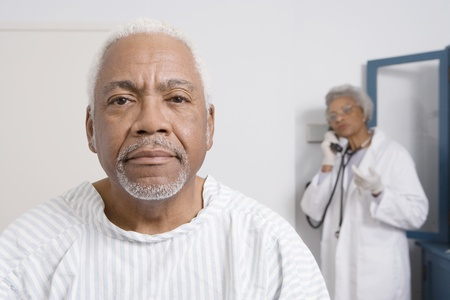 Portrait of senior man waiting for healthcare results Stock Photo - 12738053