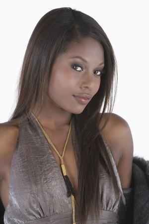 halter neck: Fashion model in halternek jurk
