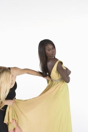 Yellow dress fitting Stock Photo - 12738193