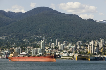 Cargo ship in Vancouver Harbour British Columbia Stock Photo - 12738227