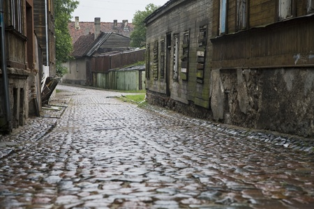 Cobbled street Latvia Stock Photo - 12738236
