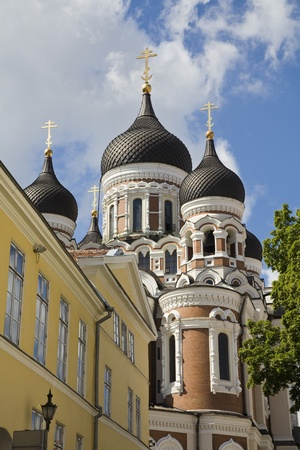 Alexander Nevsky Cathedral in old town Tallinn Estonia