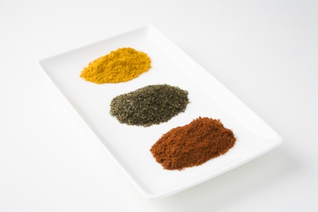 Chilli green tea and turmeric Stock Photo - 12738266