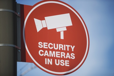 Security camera sign Stock Photo - 12735508