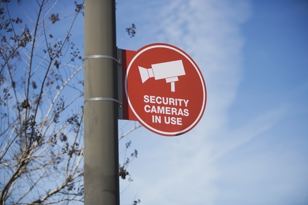 Security camera sign Stock Photo - 12735509