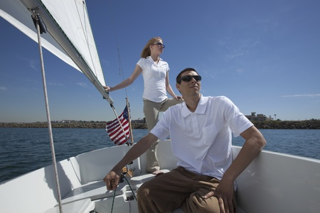 Young couple sailing Stock Photo - 12738273