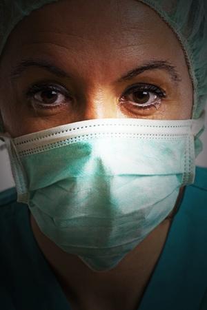theatre nurse: Theatre nurse in medical scrubs