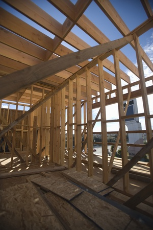 Framework of a new home Stock Photo - 12738378