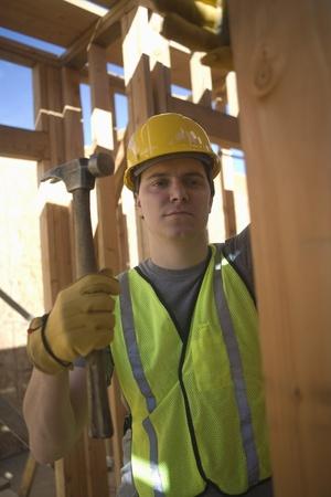 obrero: Pe�n trabaja en la construcci�n de edificios