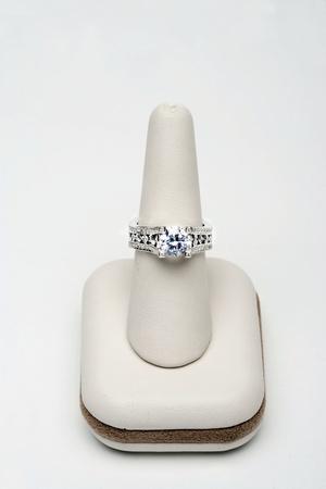 Saphire and diamond ring Stock Photo - 12738402