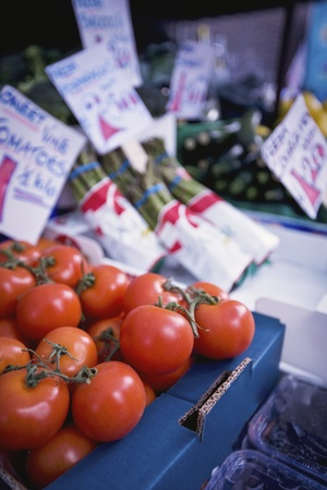 Fruit and Vegetables on a market stall Stock Photo - 12738438