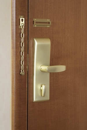 Door handle and lock of a hotel room Stock Photo - 12738455