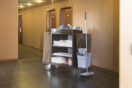 Cleaners trolley in a hotel Stock Photo - 12738456